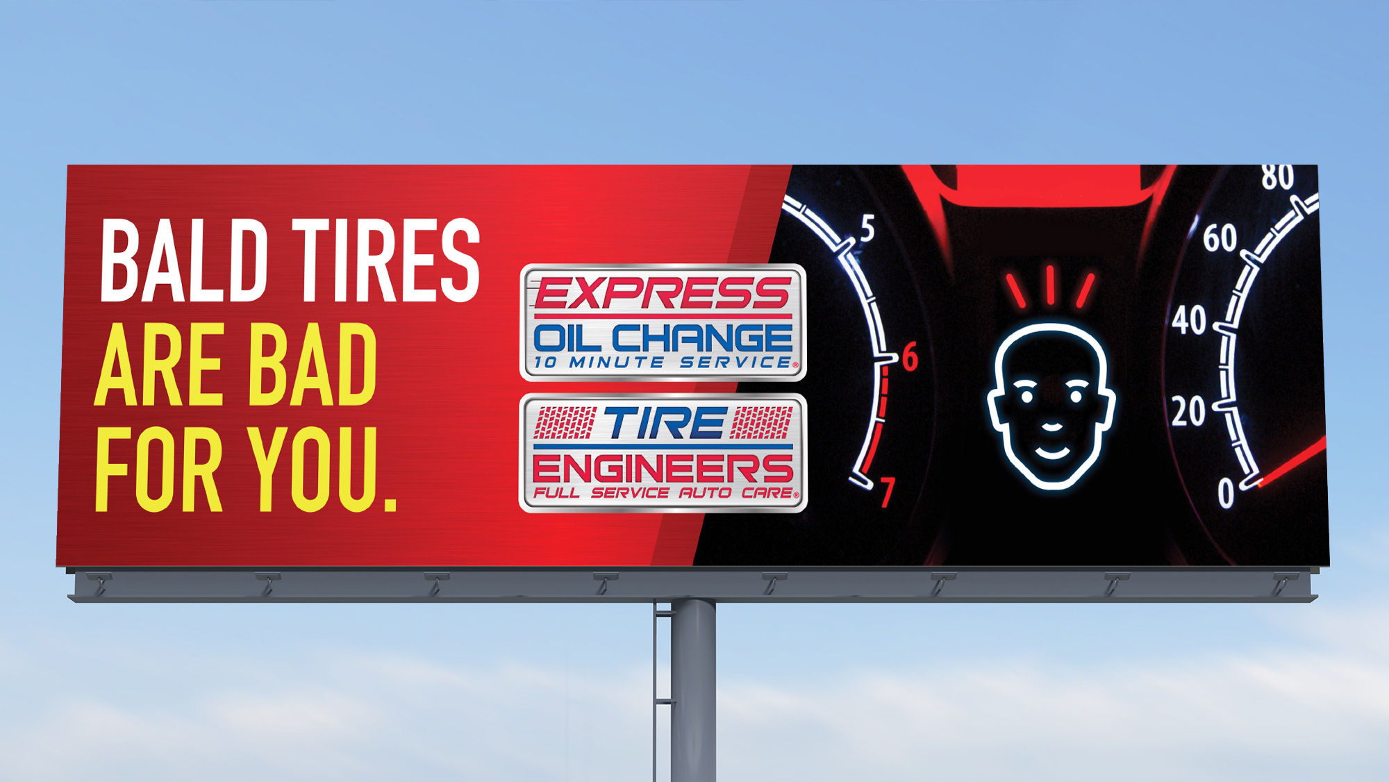 Express Oil Change Billboard