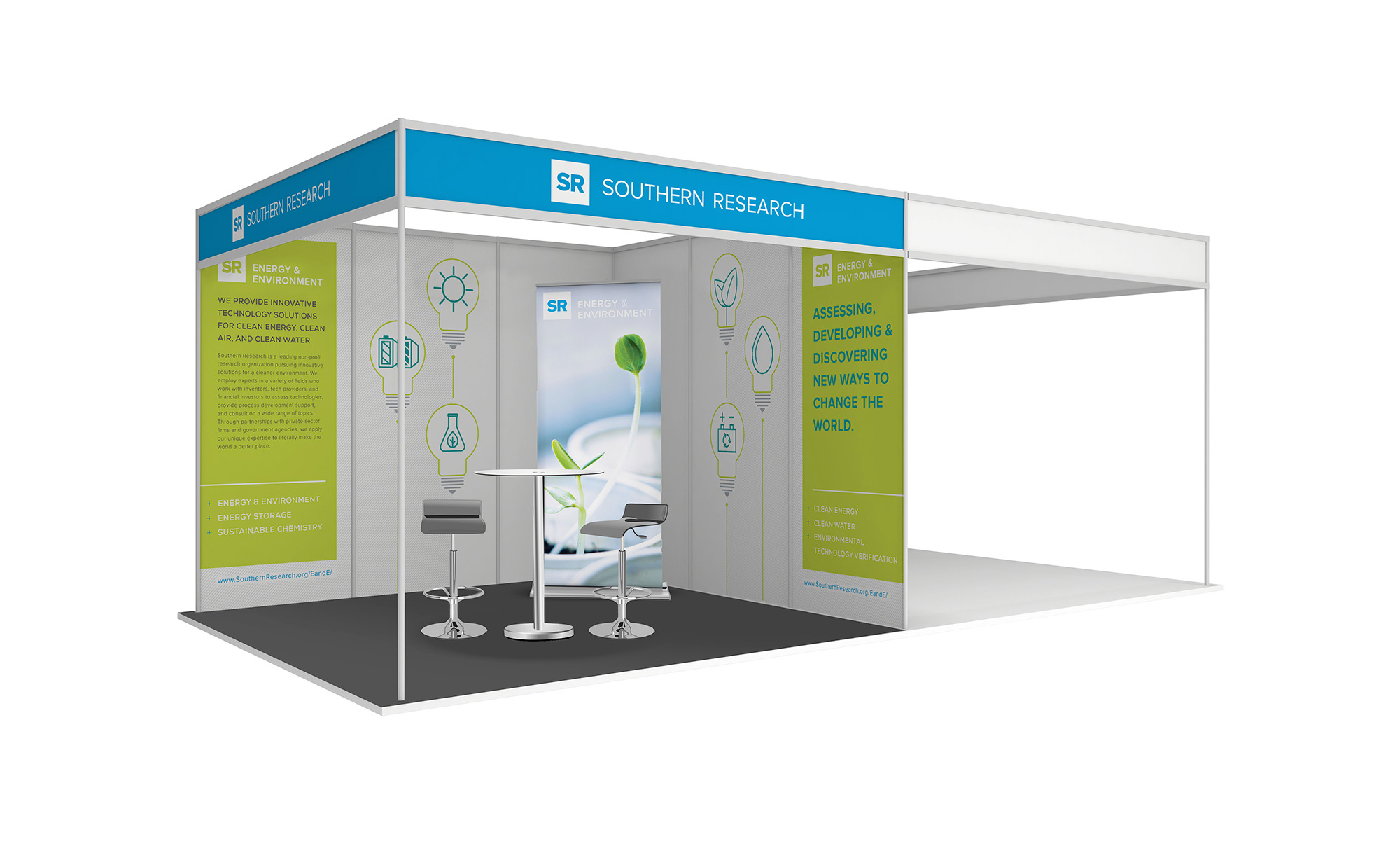 Southern Research Case Study Trade Show Booth